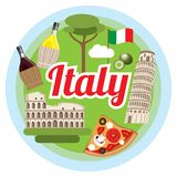 Love Italy concept. Stock Image