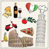 Love Italy, Rome vector set. Love Italy, Rome vector for your ideas Royalty Free Stock Photography