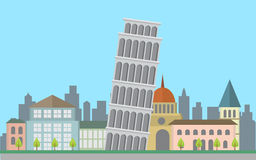 Love Italy vector landmarks. Vector for your ideas Stock Image