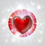 Love Japan flag heart background Royalty Free Stock Images