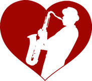 Love jazz concept royalty free illustration