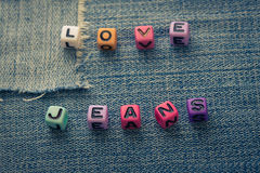 Love jeans Royalty Free Stock Images