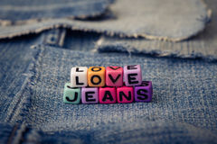 Love jeans Stock Image