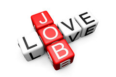 Free Love Job Crossword Stock Photos - 25318703