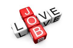 Love Job Crossword Stock Photos