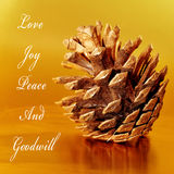 Love, joy, peace and goodwill Stock Image