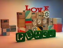 Love-Joy-Peace Stock Photos