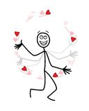 The love juggler Stock Images