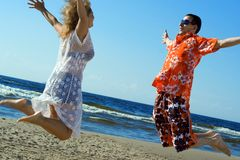 Love jump. royalty free stock photo