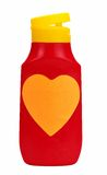 Love ketchup - isolated Royalty Free Stock Photos