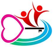 Love key. Isolated illustrated logo design vector illustration