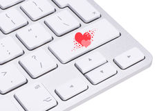 Love key on the computer keyboard Royalty Free Stock Photo