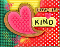 Love is Kind Heart Collage Stock Images