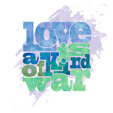 Love is a kind of war Stock Photos