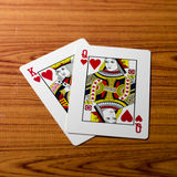 Love king queen card Stock Images