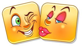 Love Kiss Emoticon Stock Image