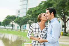 Love kissing Stock Photography
