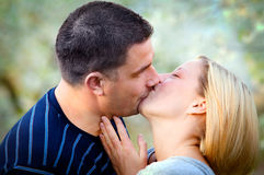 Love kissing couple Stock Image