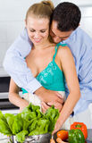 Love in kitchen Royalty Free Stock Photo