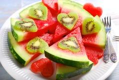 Love kiwi and watermelon Stock Photo