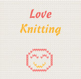 Love knitting Royalty Free Stock Photography