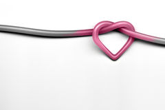 Love knot. A pink love knot on white background Royalty Free Stock Images