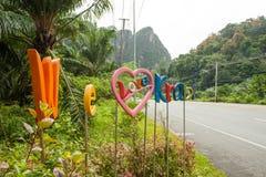We love Krabi sign Stock Photos