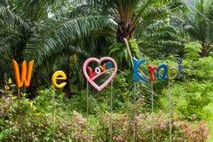 We love Krabi sign Royalty Free Stock Photo