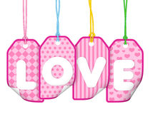Love Label. Nobody style High quality image Royalty Free Stock Photography