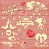 Love label for Valentine's day decoration Royalty Free Stock Photography