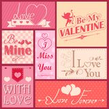 Love label for Valentine's day decoration Royalty Free Stock Image