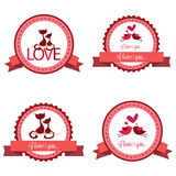 Love labels Stock Image