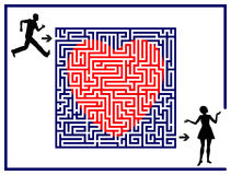 Love Labyrinth Royalty Free Stock Images