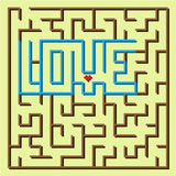Love labyrinth game Stock Photo