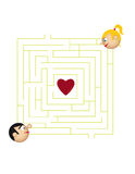 Love labyrinth Stock Images