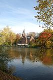 The love lake in Bruges. Minnewater — the love lake in the park of the same name. This most beautiful place in the world where everyone would like to royalty free stock images