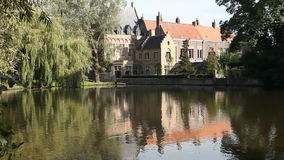 Love Lake in Bruges, Belgium stock video