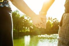 Love at lake Stock Images