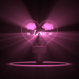 Love Lamp. Royalty Free Stock Images