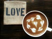 Love Latte. Love message through Latte art Royalty Free Stock Images