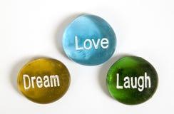 Love Laugh Dream 2 Stock Image