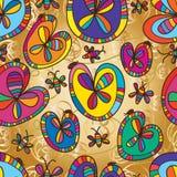 Love leaves flower bug design seamless pattern Royalty Free Stock Image