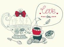 Love lemon tea card Stock Photo