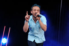 Love of Lesbian band performs at Matadero de Madrid Royalty Free Stock Photos