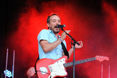 Love of Lesbian (Spanish famous band) performs at Matadero de Madrid Royalty Free Stock Photos