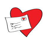Love letter. For valentine's day Royalty Free Stock Photo