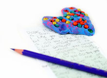 Love letter. Written by young teenage Royalty Free Stock Images