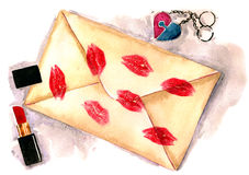 Love letter. (Rkl painting Royalty Free Stock Images