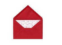 Love Letter. Red love letter on white background Stock Photography