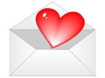 Love letter. Illustration isolated on white background Royalty Free Stock Photos